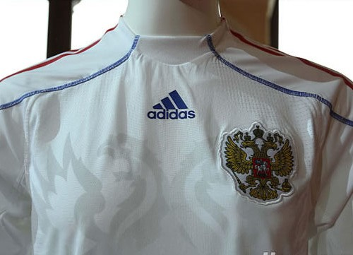 New Russia 2009-10 home shirt