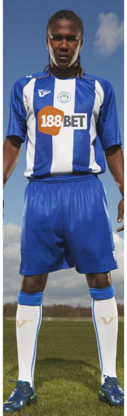 New Wigan Athletic home kit 2008-09