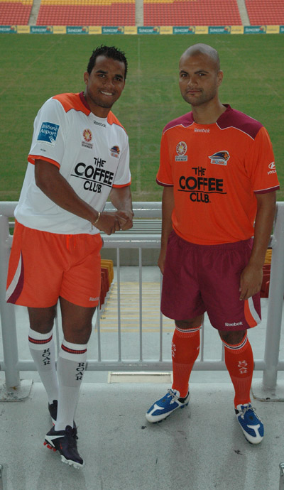 New Brisbane Roar strips- home and away