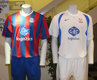 New Crystal Palace home and away kits 2009-10