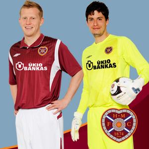 New Heart of Midlothian 2009/10 Home Kit