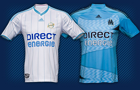 New Olympique Marseille 2009-10 home and away jerseys