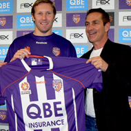 New Perth Glory home shirt unveiling