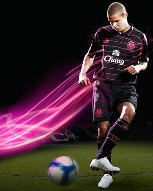 New Everton FC Jack Rodwell shirt 09-10