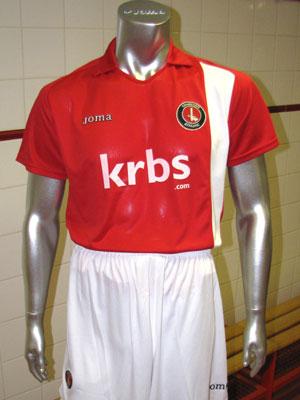 new charlton athletic joma home kit 2009-10