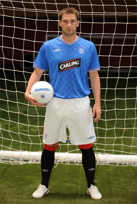 new Glasgow Rangers home kit 2009/10