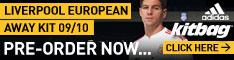 Buy new LFC Euro Away Kit Champions League 2009-10