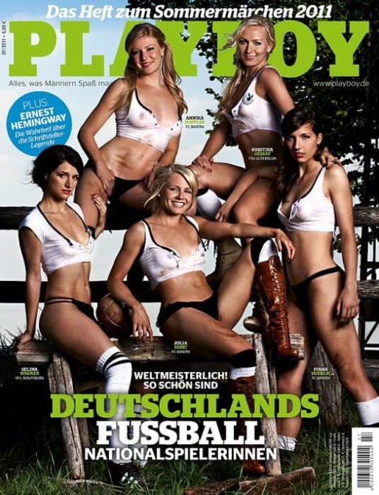 Germany Soccer Playboy Cover