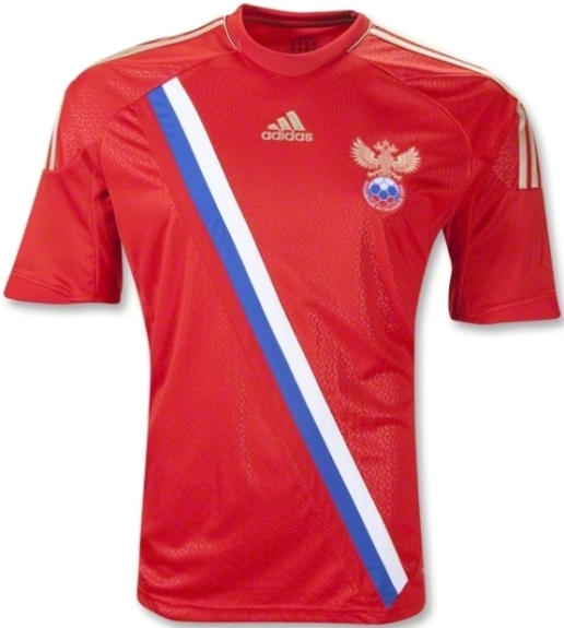 Russia Euro 2012 Home Kit