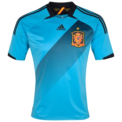 Spain Away Euro 2012 Shirt
