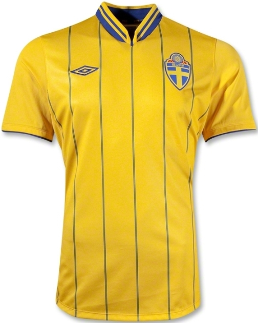 Sweden Home Uniform EM 2012
