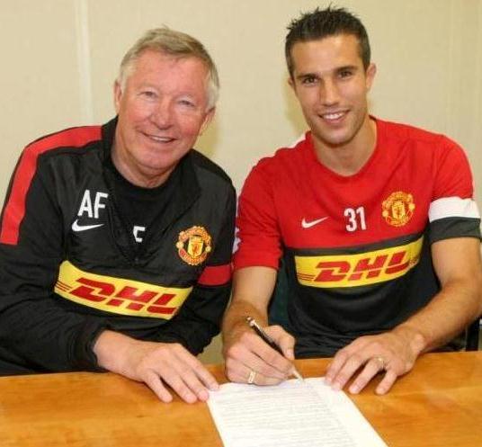Robin Van Persie Manchester United 2012 Sir Alex Ferguson