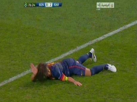 Carles Puyol Benfica Injury