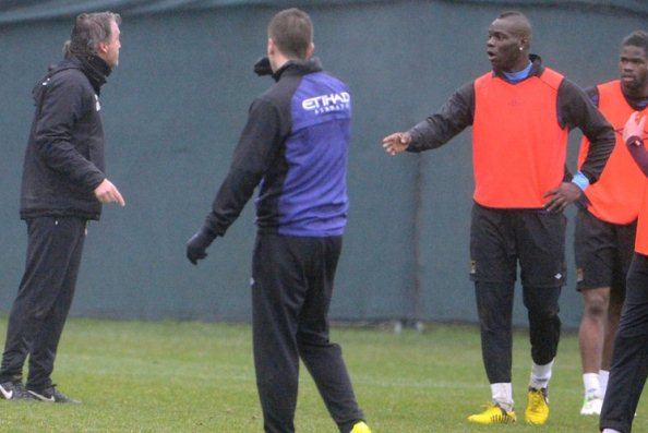Mancini Balotelli Bust-up