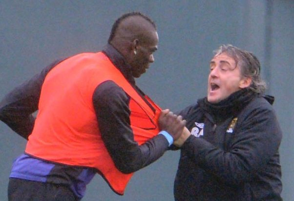 Mancini Balotelli Fight