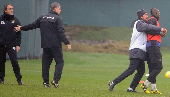 Roberto Mancini Mario Balotelli Fight