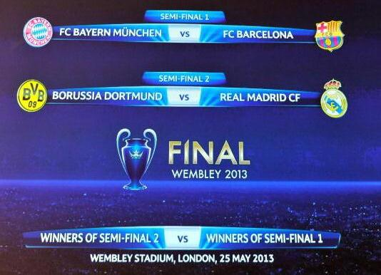 UCL Semifinal Draw