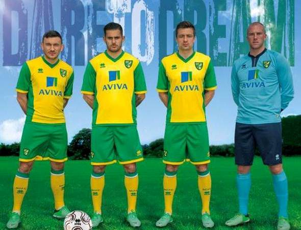 Norwich City New Kit 2013 14