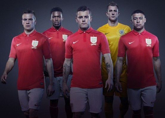 Red England Soccer Jersey 2013