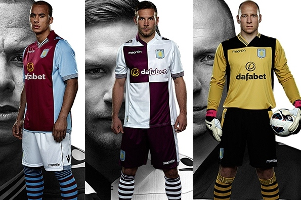 Aston Villa New Kit 2013 14