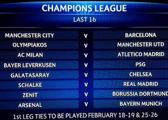 today champion league result