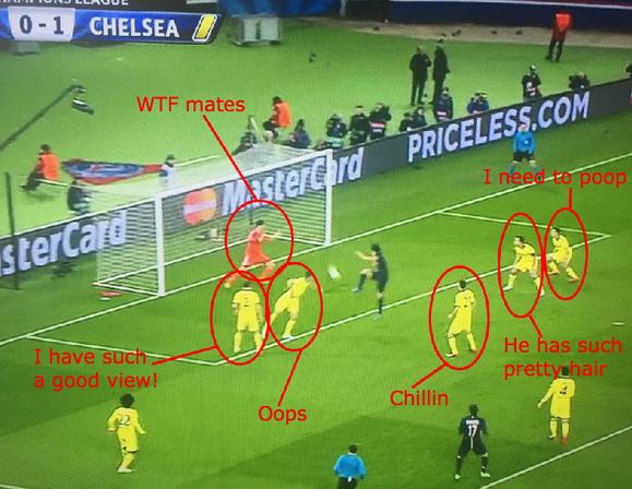 Chelsea Defending Cavani