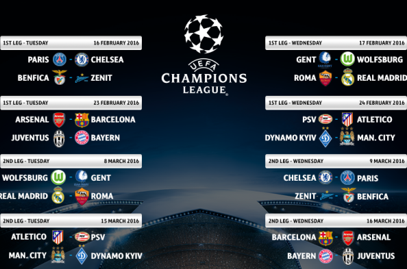 UCL Round of 16 Draw 2015 16