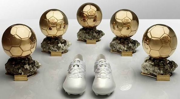 Messi Ballon D'or Platinum Boots 2015