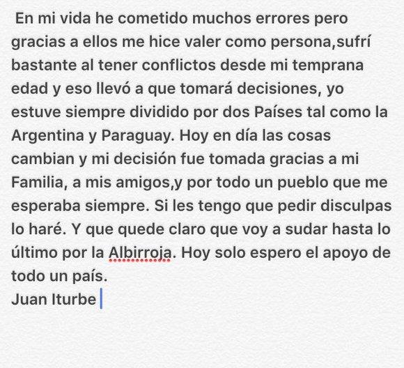 Juan Iturbe Paraguay Declaration