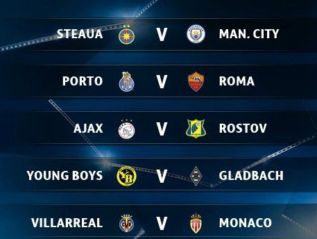 CL Play-offs Draw 2016 2017