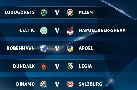 Champions League Playoff Round Draw 2016 17