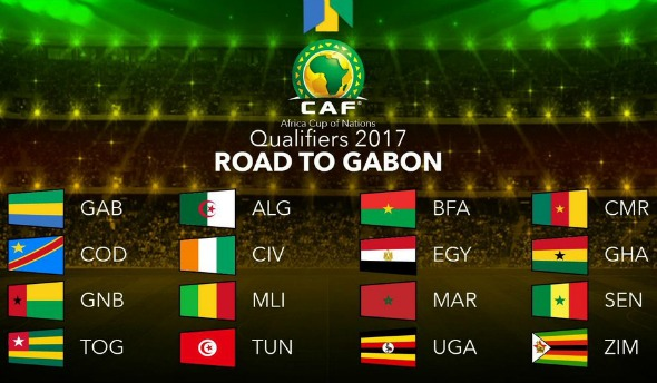 Africa Cup of Nations Qualified Teams 2017
