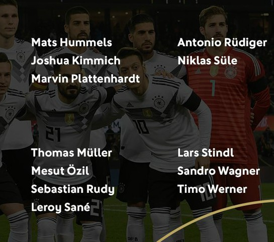 Germany Squad March 2018