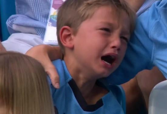 Uruguayan Kid Crying World Cup 2018
