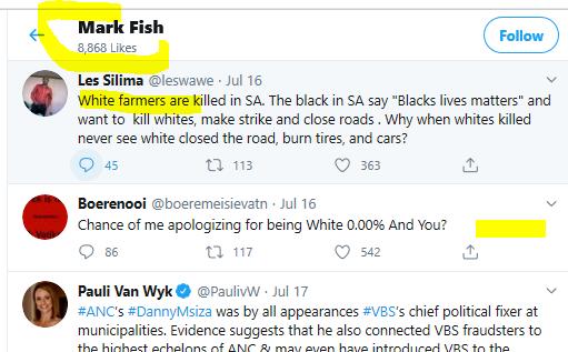 Mark Fish Likes 3 Twitter