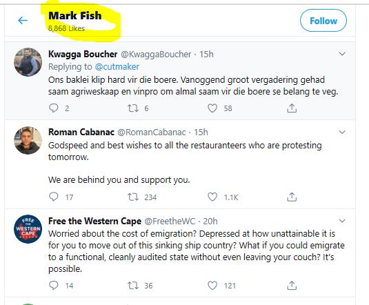 Mark Fish Likes Twitter