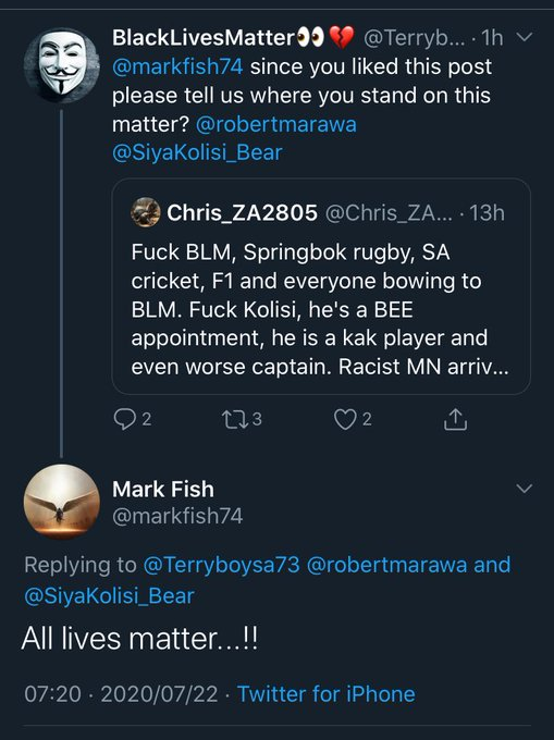 Mark Fish Racist or Not Reply