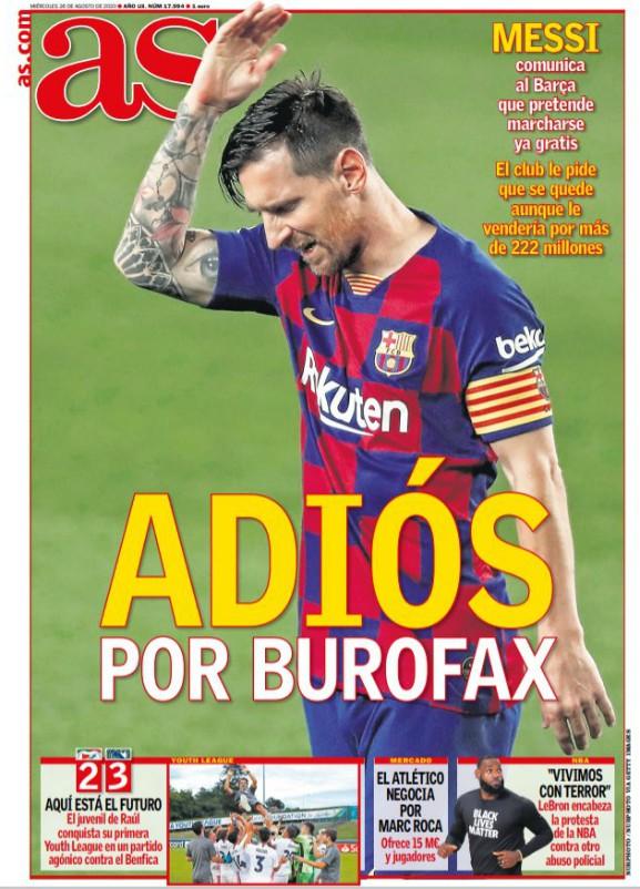 AS Burofax Messi Headline