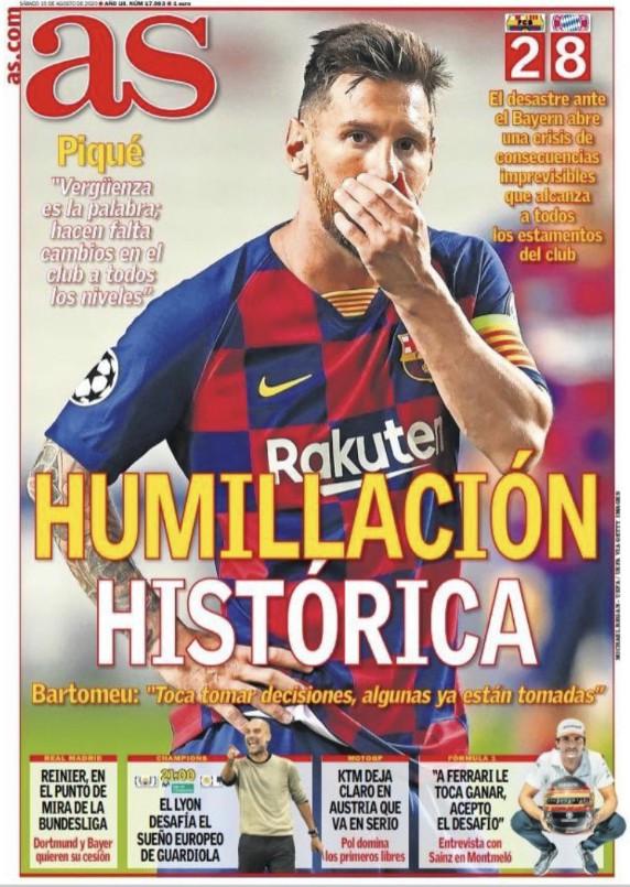 Barca vs Bayern AS Post Match Headline