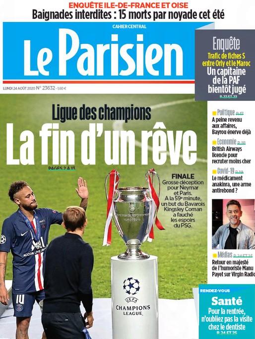 Le Parisien Headline after PSG Champions League Final Loss