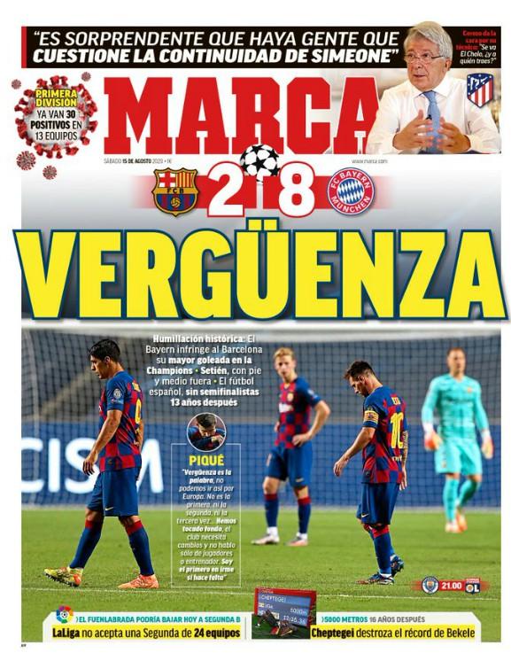 Marca Headline Barca 2-8 Bayern Munich
