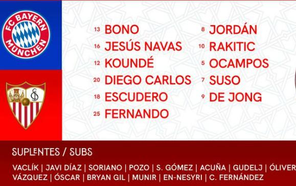 Sevilla starting vs Bayern