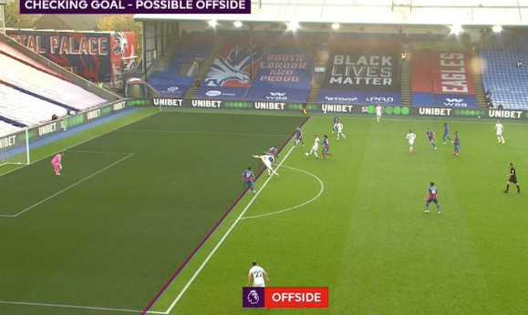 Bamford disallowed goal against Crystal Palace Offside