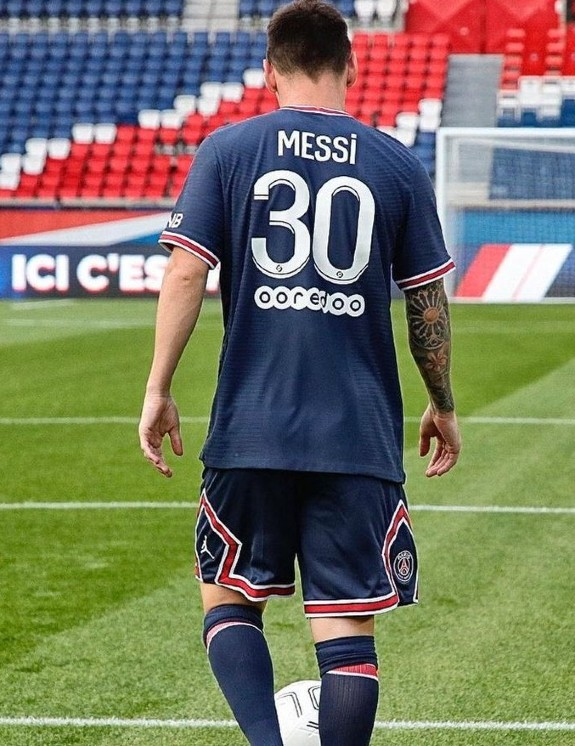 Lionel Messi Jersey 30 PSG 2021 2022